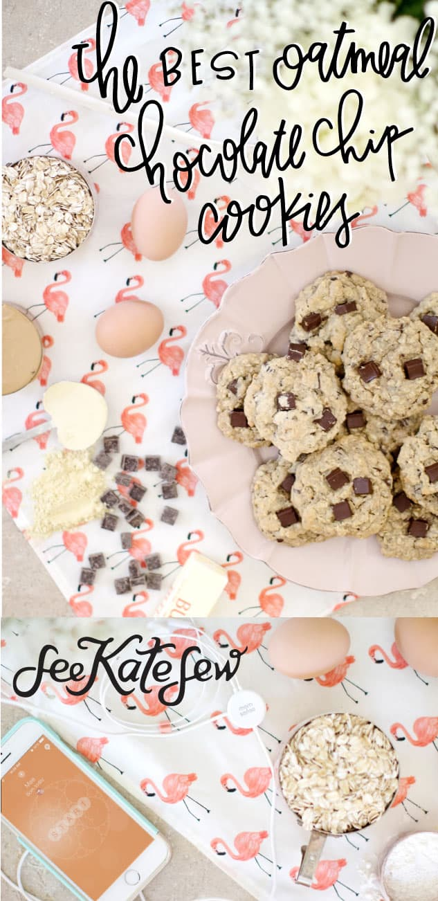 The Best Oatmeal Chocolate Chip Cookies|See Kate Sew