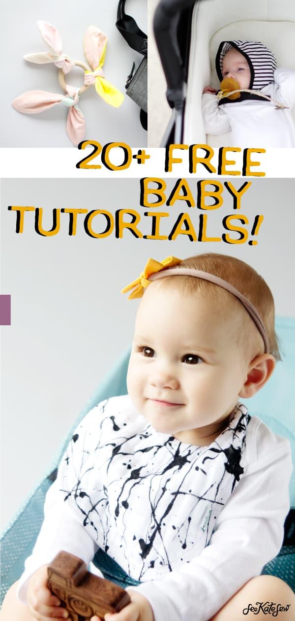 20+ Free Baby Tutorials