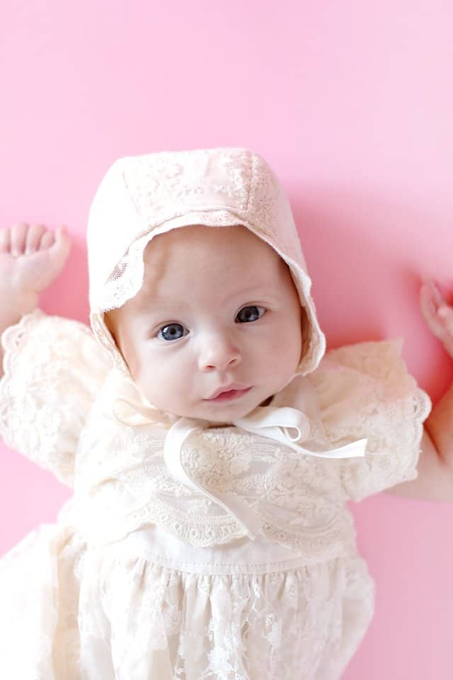 Lace Bonnet Tutorial | FREE Blessing Gown Tutorial + Pattern | how to sew a blessing dress | diy blessing dress | free sewing patterns | free blessing gown pattern || See Kate Sew #freesewingpatterns #blessingdress