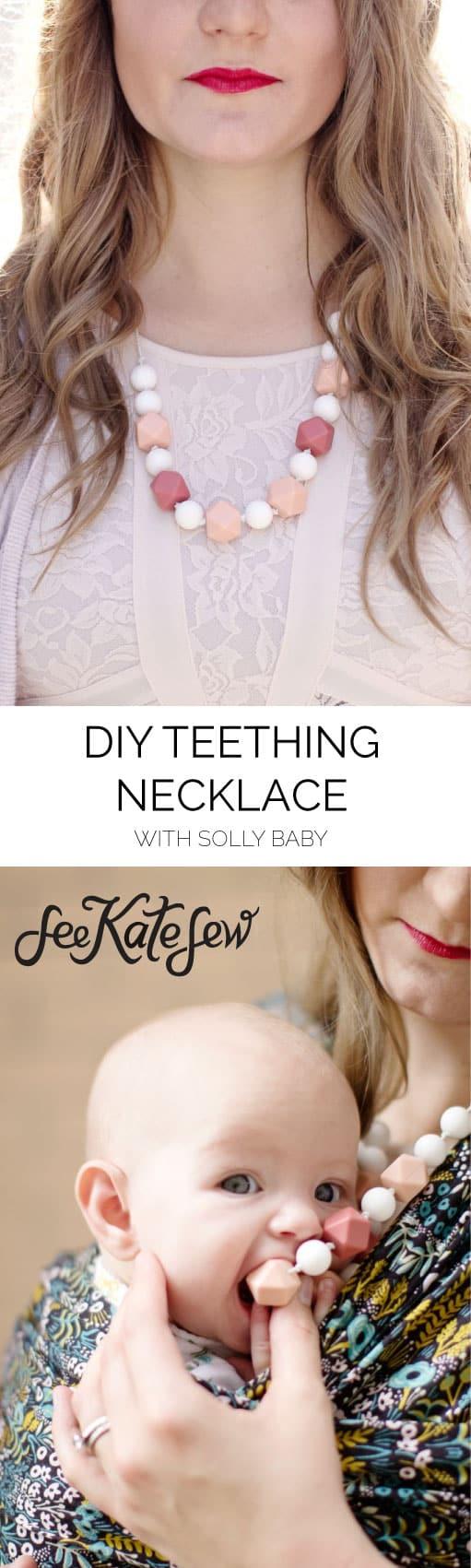 DIY Teething Necklace| See Kate Sew