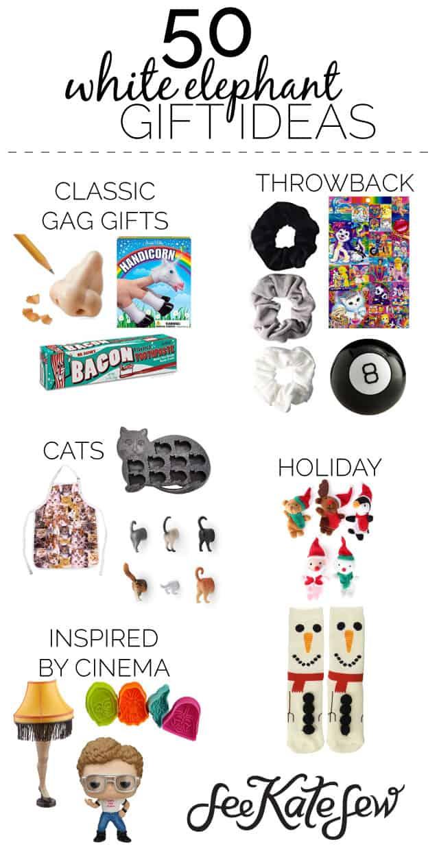 50 White Elephant Gift Ideas - See Kate Sew