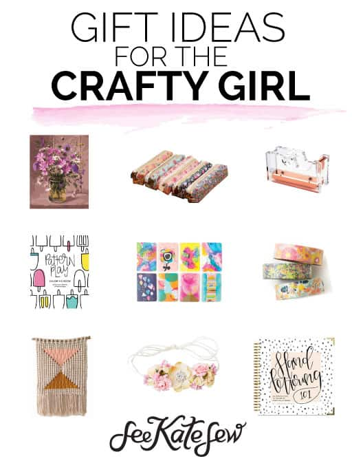 Gift Ideas For The Crafty Girl | craft gift ideas | gift ideas for crafters | crafter gift guide || See Kate Sew #craftgifts #giftguides