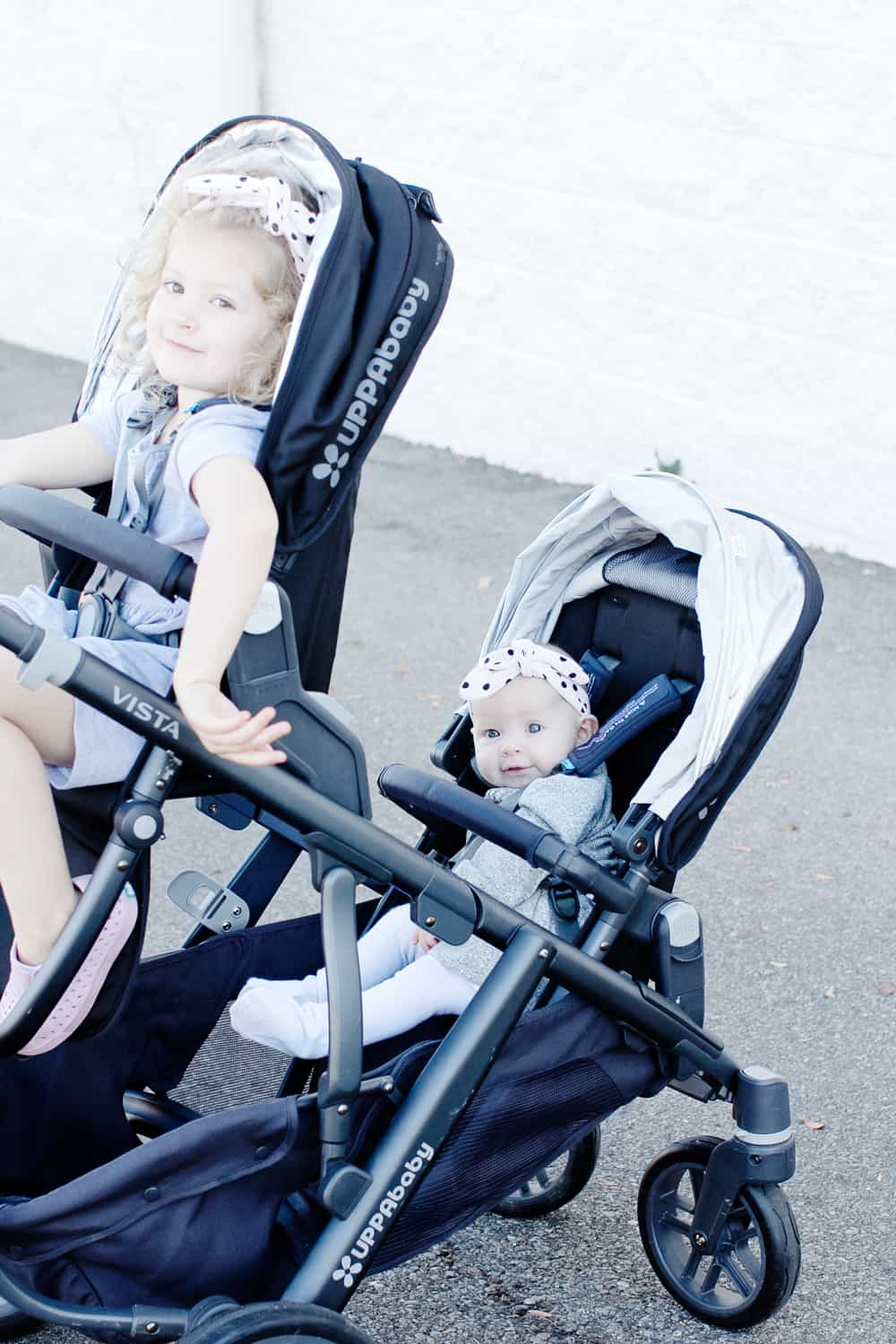 UppaBaby Vista Double Stroller Review + Knit Headband ...