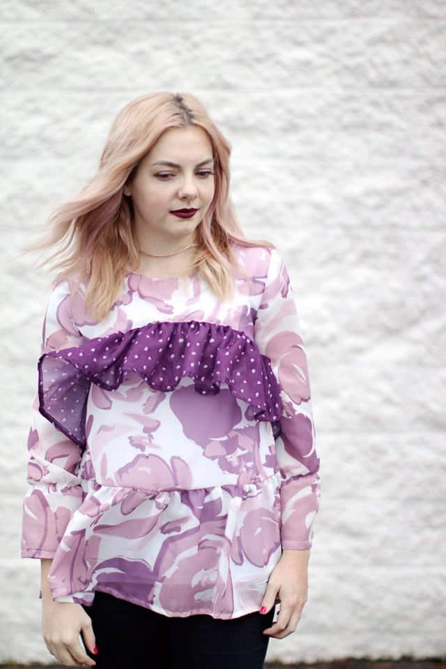 BOHO RUFFLE BLOUSE {free} pattern | free clothing pattern | free sewing patterns | sewing tutorials | easy sewing projects | diy clothing | how to sew a ruffle sleeve blouse || See Kate Sew #diyblouse #freepatterns #sewingproject