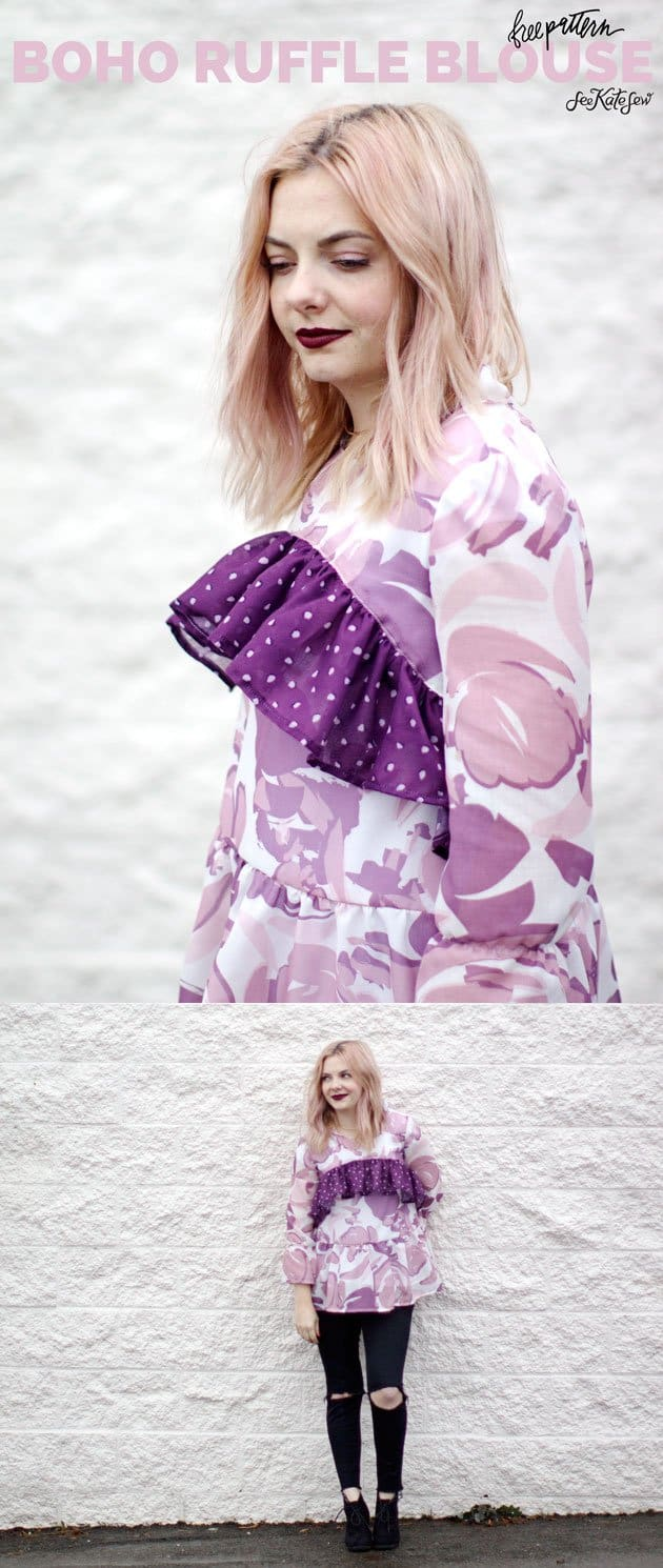 Boho Ruffle Blouse | See Kate Sew