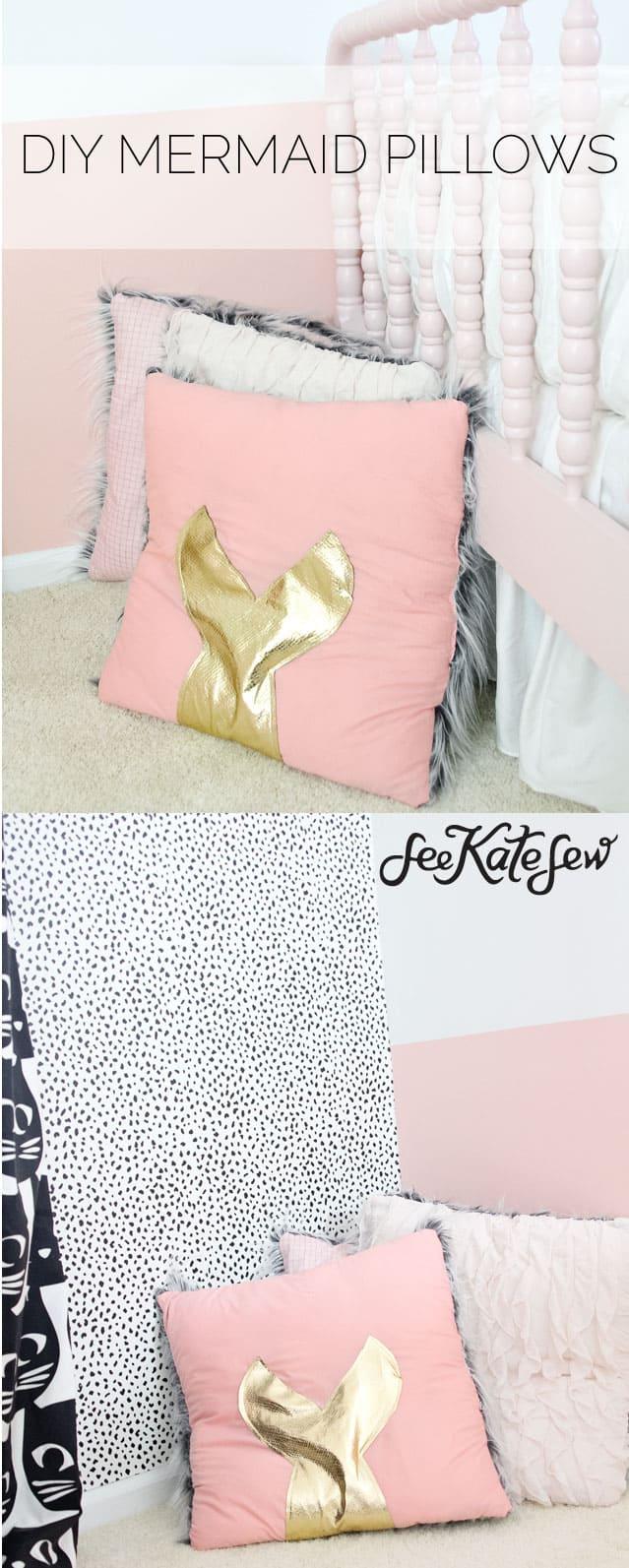 DIY Mermaid Pillows | See Kate Sew