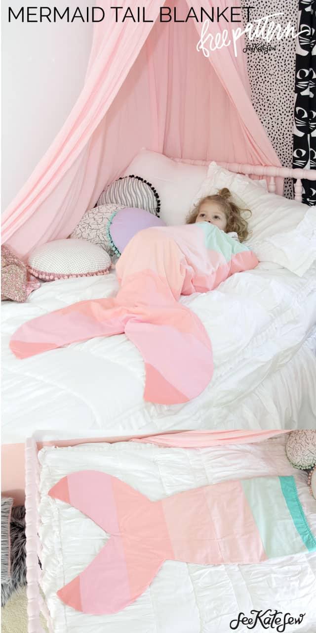 Mermaid Tail Blanket Pattern | See Kate Sew