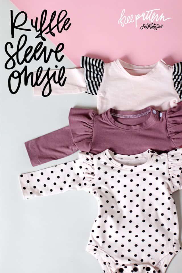 Ruffle Sleeve Onesie + Basic Onesie Pattern (FREE)! - see ...