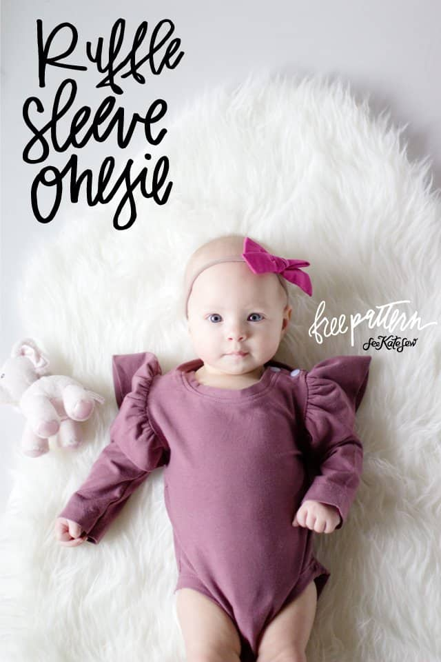 Ruffle Sleeve Onesie   See Kate Sew