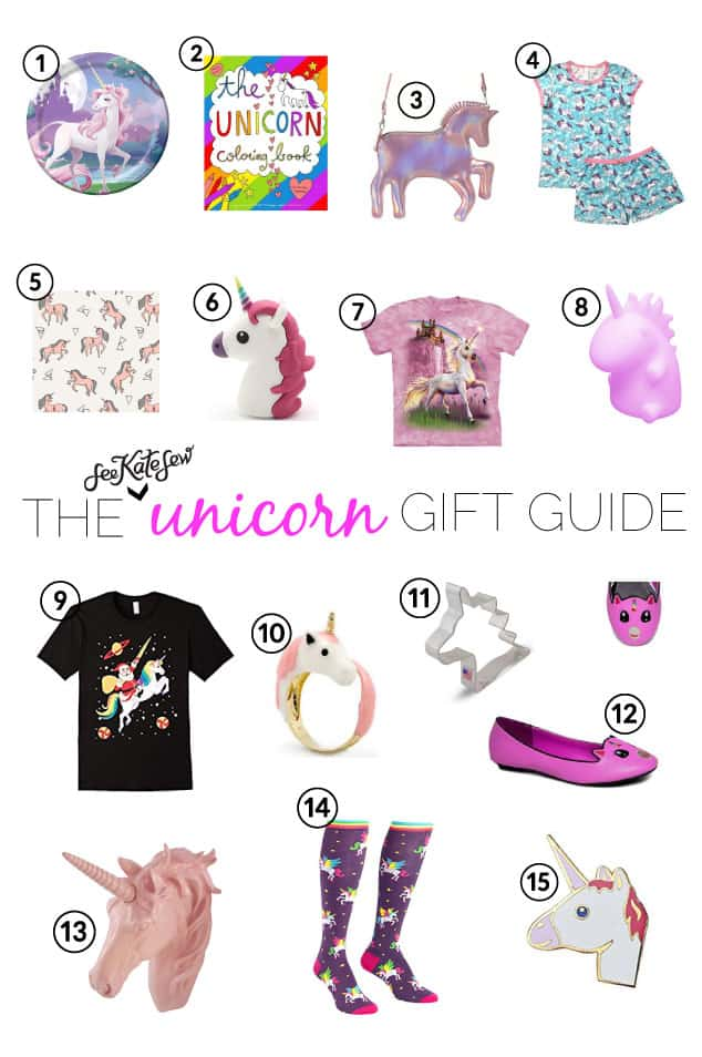 Gift Guide: The Unicorn Enthusiast | christmas gift ideas for kids | gift guides for kids | unicorn themed gift ideas | toddler gift guides || See Kate Sew #unicorngifts #toddlergiftguide