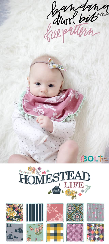 Bandana Drool Bib Pattern | See Kate Sew