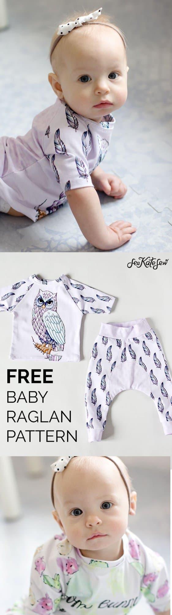 Free Baby Raglan Pattern - See Kate Sew