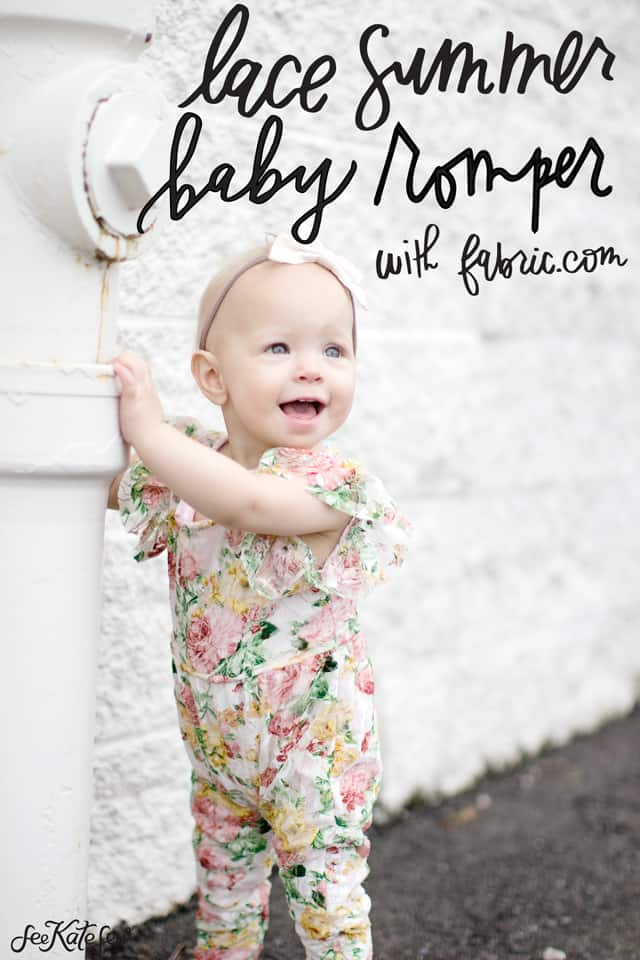 lace summer baby romper | diy baby romper | diy baby clothing | sewing tutorials | free sewing patterns | baby romper pattern | baby romper tutorial || see Kate sew #sewingtutorial #babyromper #diybaby #babyclothing