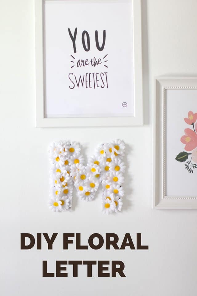 Floral Name Letters with Lorena Canals | diy name letters | diy wall decor | floral home decor | kids room decor || see Kate sew #diy #nameletters #floraldecor #kidsrooms #kidsdecor #floralnameletters