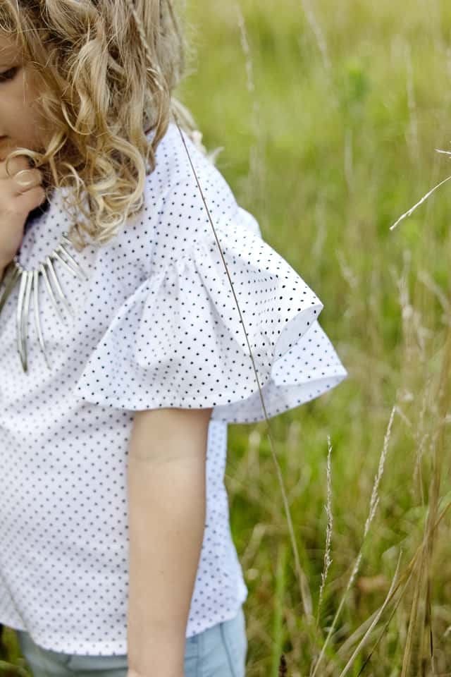 DIY RUFFLE SLEEVE BLOUSE   See Kate Sew