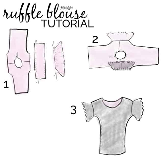 DIY RUFFLE SLEEVE BLOUSE | See Kate Sew