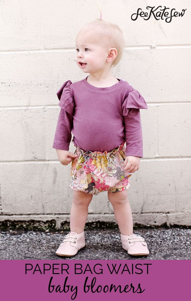 Paper Bag Waist Baby Bloomers|See Kate Sew