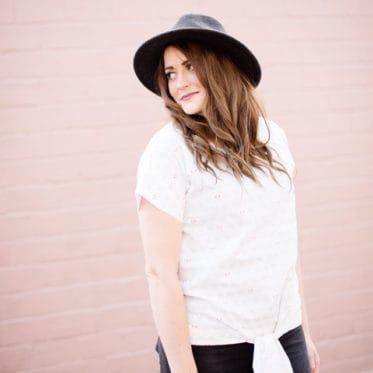 DIY TIE FRONT TOP | See Kate Sew