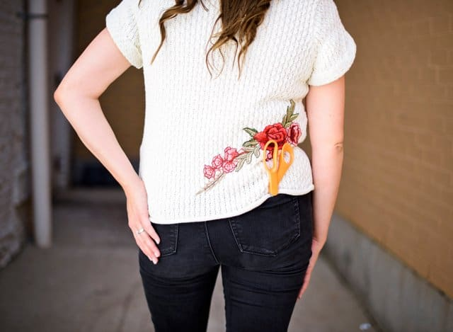 THRIFTED SWEATER HACK | 5 Thrift Store Sewing Hacks | sewing tutorials | sewing tips and tricks | sewing projects | thrift store clothing hacks | sewing tutorials clothes | DIY clothing tutorials | DIY clothing hacks || See Kate Sew
