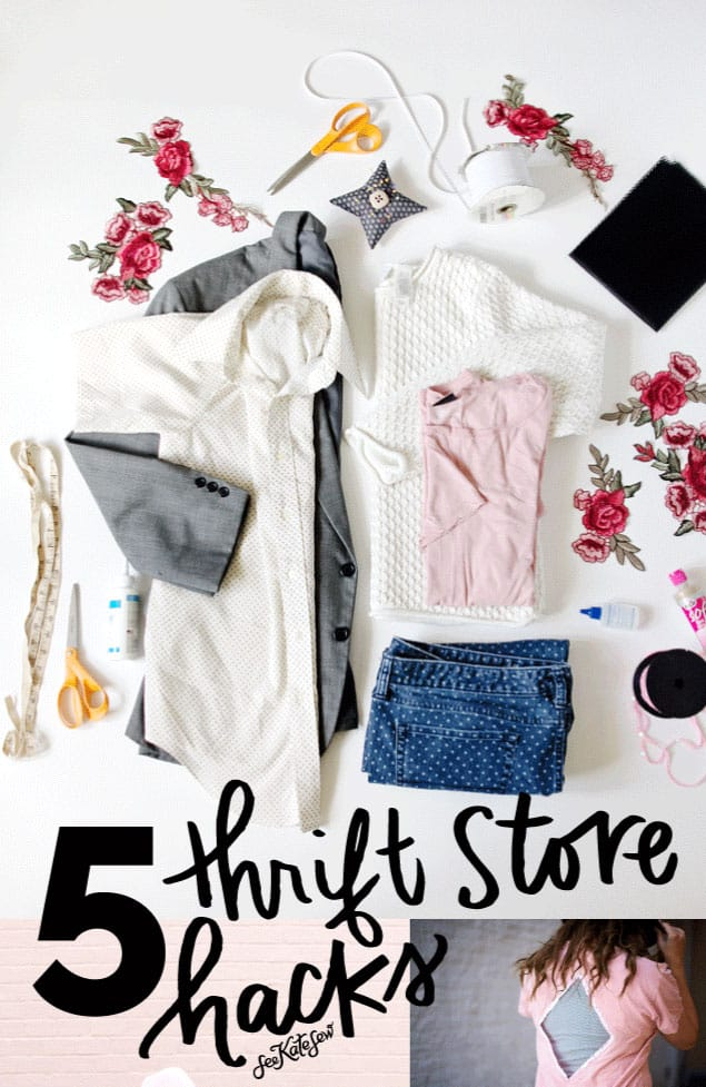 5 Thrift Store Hacks|See Kate Sew