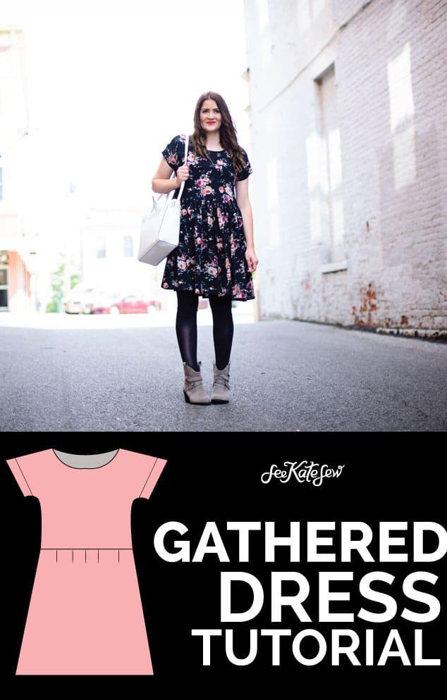 Gathered Dress Tutorial|See Kate Sew