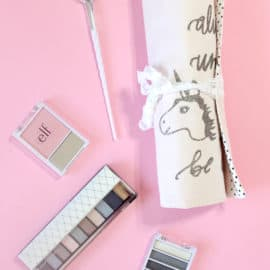 Unicorn Makeup Brush Roll Tutorial + SVG cut file