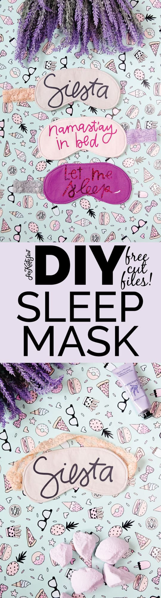 DIY sleep mask with cut files