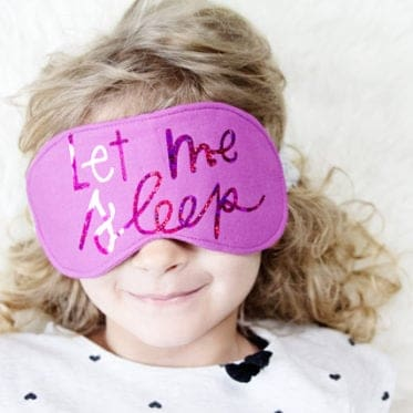 DIY sleep mask with cut files