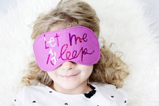 Namast'ay in Bed // DIY Sleep Mask Pattern | DIY sleep mask with cut files | how to make a sleep mask | diy sewing | sewing tutorials | free sewing cut files | free sewing patterns | sewing tips and tricks || See Kate Sew #diysleepmask #sewingtips #freecutfiles