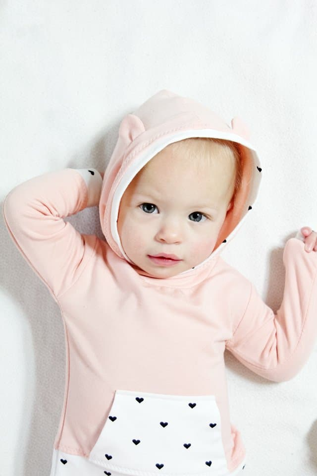 French Terry Baby Hoodie + Track Pants Pattern | diy baby clothing | handmade baby clothing | handmade kids clothes | sewing kids clothing | sewing tips and tricks | sewing tutorials | how to sew a baby hoodie | baby hoodie and pants outfit || see kate sew #sewingtips #sewingtututorial #diybabyclothing