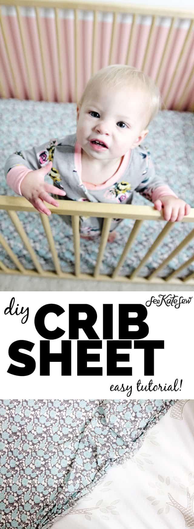 DIY easy crib sheet tutorial