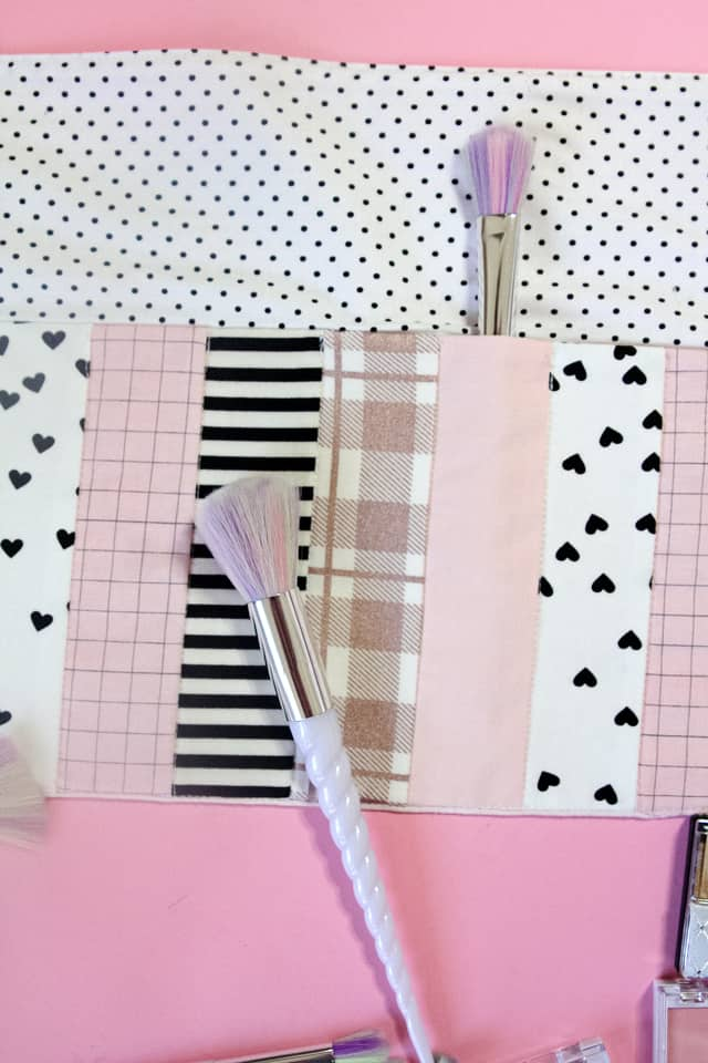 Unicorn Makeup Brush Roll With Cricut Diy Tutorial With