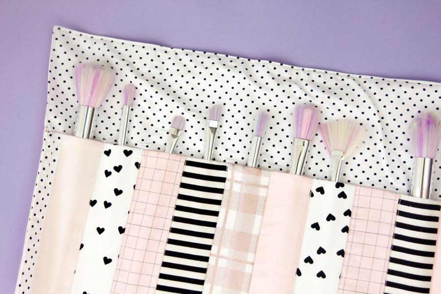 DIY Makeup Brush Roll Tutorial | See Kate Sew