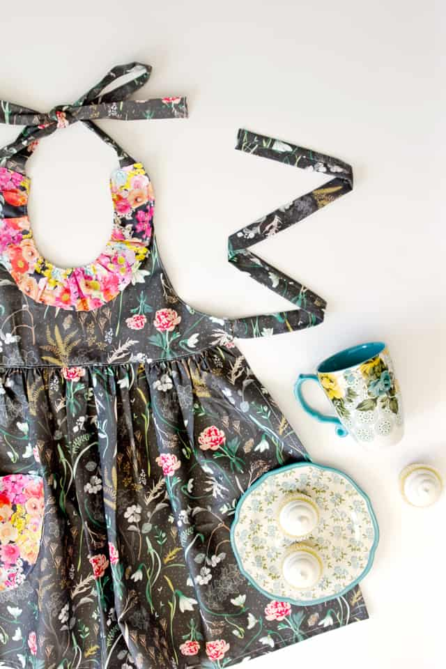 d765402aead45 Ruffled Floral Apron from Sprout Patterns! - see kate sew