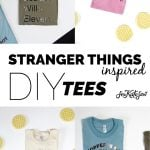 Stranger Things Inspired DIY Tees + Funny ways to wrap it up!