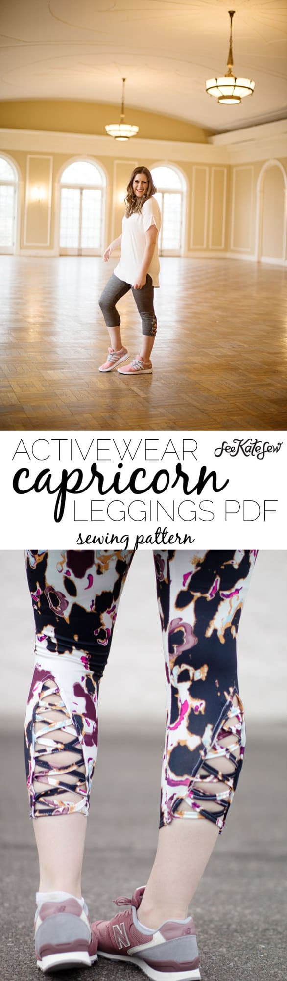 Activewear leggings PDF | DIY Workout Pants Sewing Pattern | new pattern! The CAPRICORN leggings! + RELEASE DAY SALE | handmade leggings | diy legging tutorial | easy diy leggings | diy activewear | handmade activewear | sewing patterns | diy leggings pattern || see Kate sew #leggingspattern #diyleggings #handmadeclothing