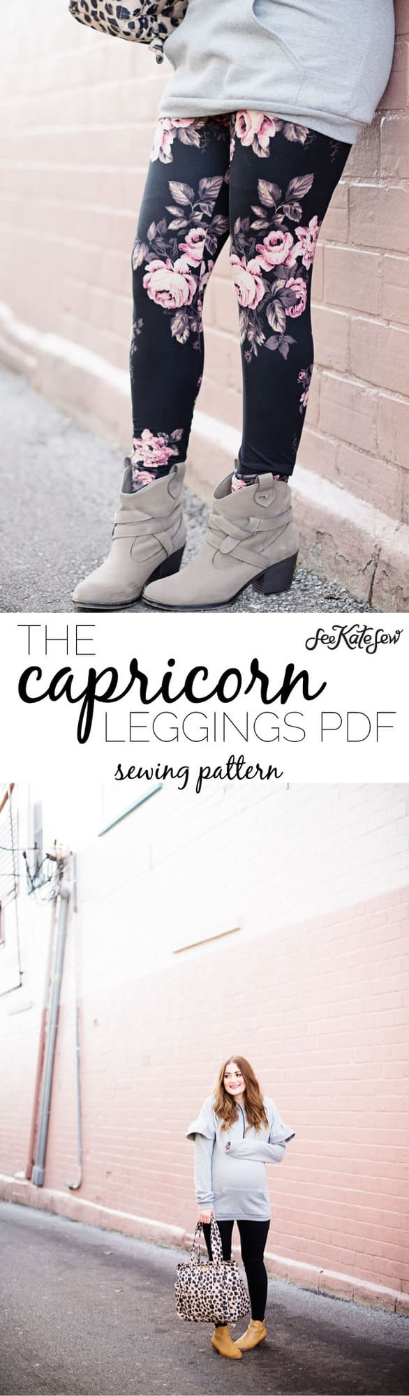 the CAPRICORN LEGGINGS PDF | DIY Workout Pants Sewing Pattern | new pattern! The CAPRICORN leggings! + RELEASE DAY SALE | handmade leggings | diy legging tutorial | easy diy leggings | diy activewear | handmade activewear | sewing patterns | diy leggings pattern || see Kate sew #leggingspattern #diyleggings #handmadeclothing