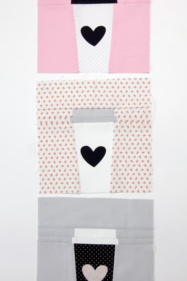 Cricut Maker Quilting // Coffee Cup Block | QBOM: Coffee Cup Quilt Block | cricut tutorials | how to make a quilt block | diy quilt block | quilt block tutorial | quilt blocks of the month | quilt block patterns || see Kate sew #quiltblock #freequiltblock #quiltblockpattern