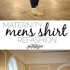 Maternity mens shirt refashion