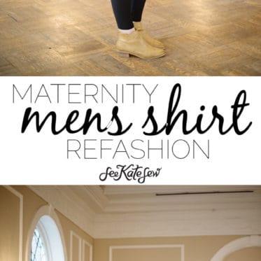 Maternity mens shirt refashion