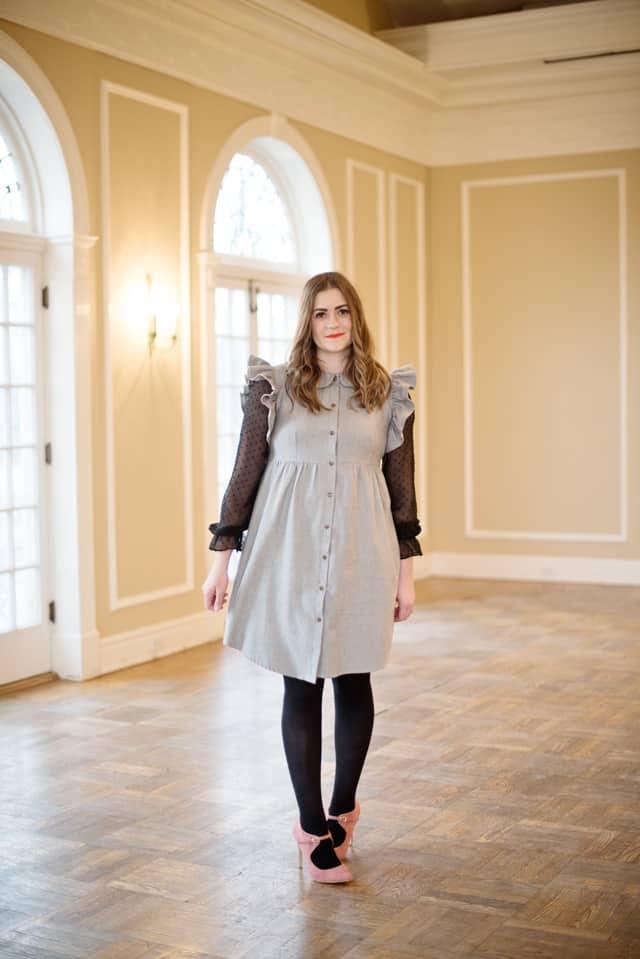 Ruffle Sleeve Hack Tutorial | flannel dress tutorial | diy dress pattern | handmade clothing tutorials | easy diy dress | free sewing tutorials | sewing tips and tricks || See Kate Sew #diydress #sewingtips #sewingpatterns