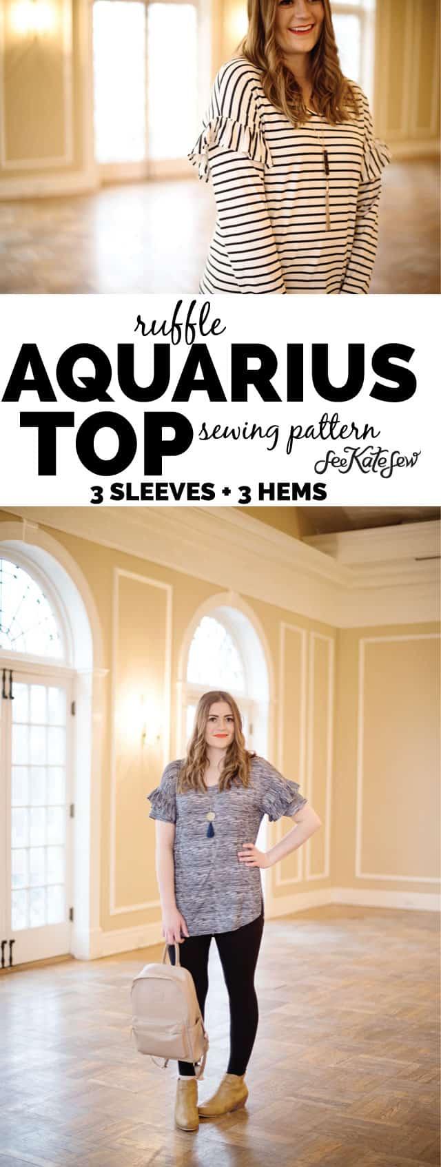 the AQUARIUS PDF PATTERN | Easy to sew!