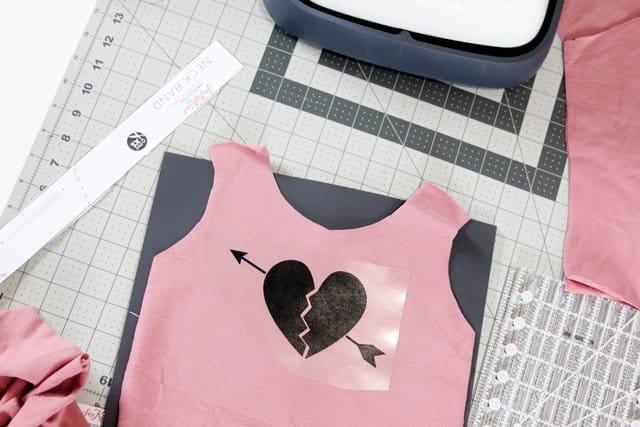 DIY Heart onesie tutorial
