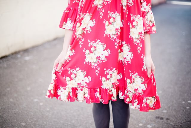 The Rachel Dress Pattern with a Ruffle | See Kate Sew