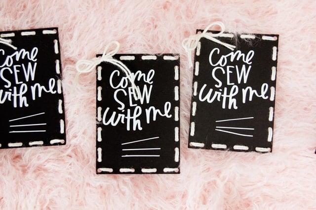 Free Sewing Night Invitations DIY