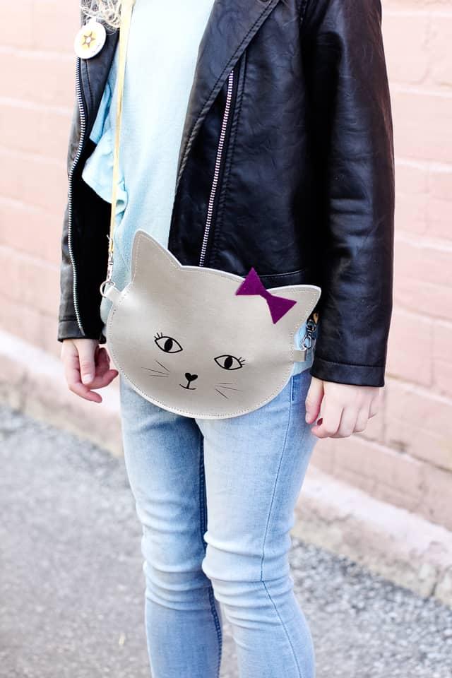 DIY Leather Kitty Purse cut with the Cricut Maker | cricut craft ideas | diy purse tutorial | how to make a purse | cricut maker tutorials | cat inspired accessories || See Kate Sew #cricut #diypurse #pursetutorial