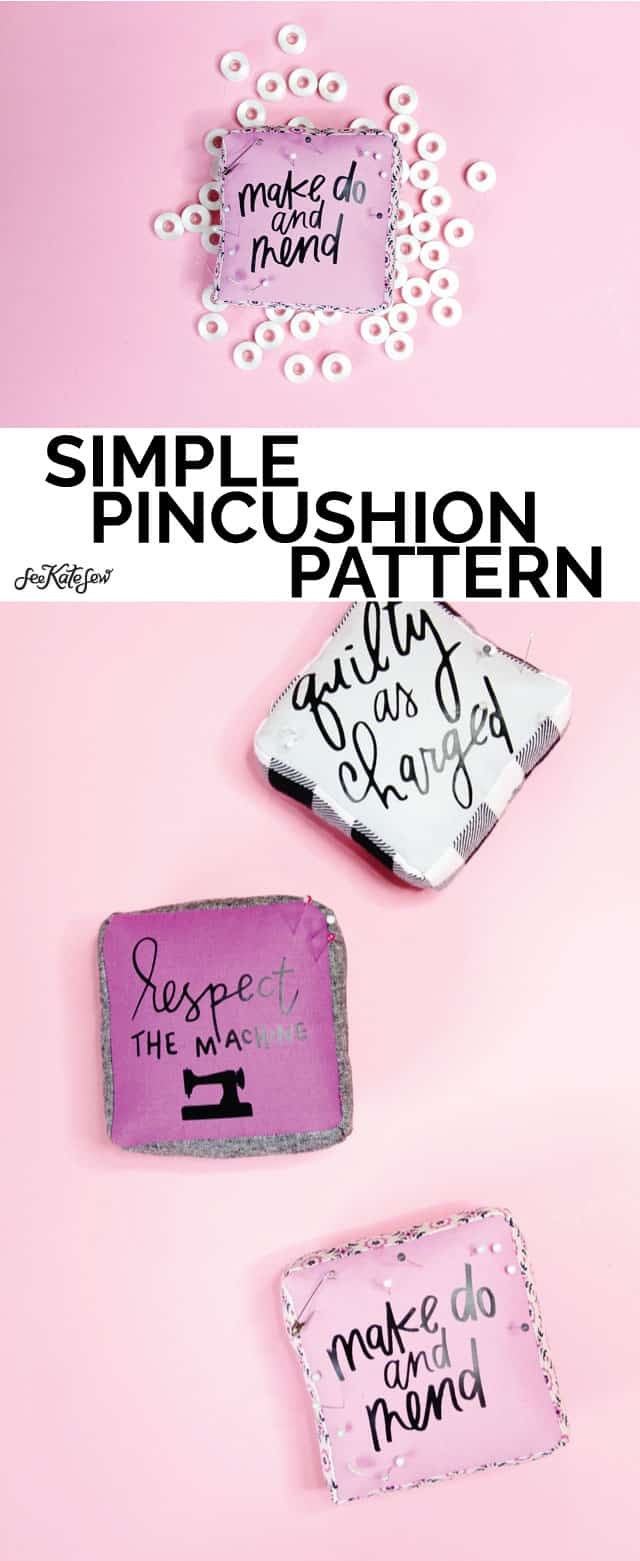 how to make a pincushion | sewing themed pincushion pattern | diy pincushion | sewing tutorials | sewing tips and tricks || See Kate Sew #sewingtutorial #pincushion