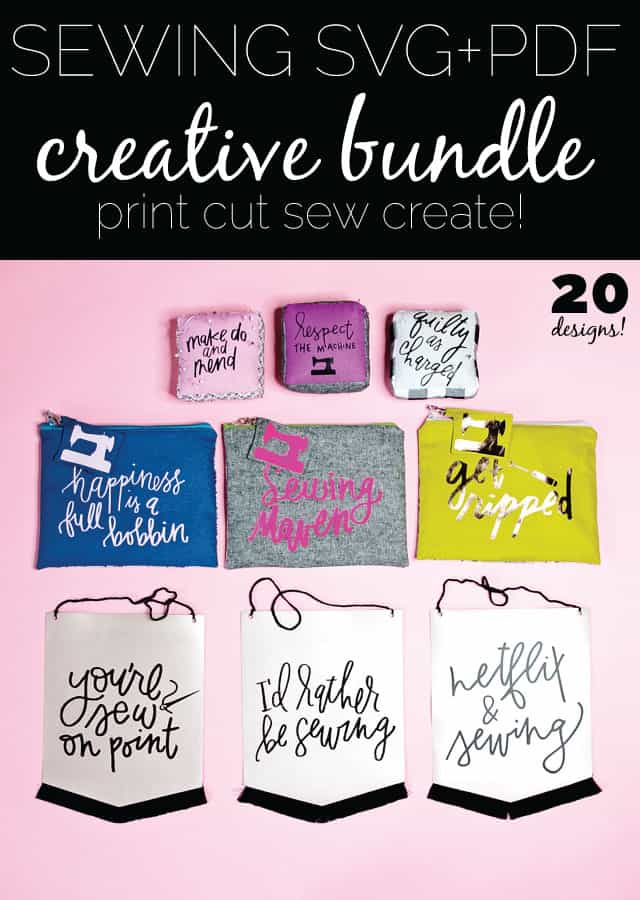 the Sewing SVG + PDF CREATIVE BUNDLE! On Sale now! \\ see Kate sew #sewingfiles #sewingpdf
