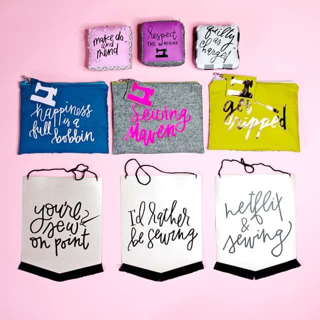 DIY Leather Banners | sewing sayings | diy banner ideas | cricut craft ideas || See Kate Sew #leatherbanner #leatherdiy #sewingsayings