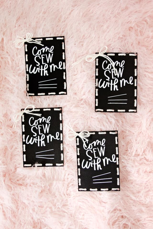 Sewing Night Invitation! | diy invitations | party invitation ideas | cricut maker tutorials | sewing themed invitations || See Kate Sew #diyinvitations #cricut #critcutdiy